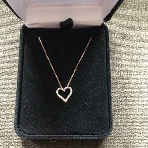 Kay jewelers diamond heart gold necklace